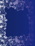 Snow framework. The abstract white framework symbolising snow, on a dark blue background Stock Photo