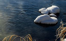 The snow and frost. The snow cream in my hometown is wonderfulnn Royalty Free Stock Photos