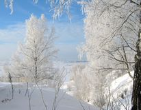Snow, Frost and Sunshine — Lovely Morning! stock images