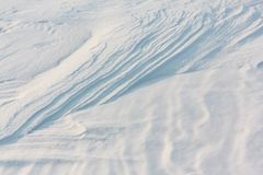 Snow on the frozen surface of the river, a natural background, Ob reservoir, Siberia. Snow on the frozen surface of the river, natural background, Ob reservoir royalty free stock images