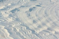 Snow on the frozen surface of the river, a natural background, Ob reservoir, Siberia. Snow on the frozen surface of the river, natural background, Ob reservoir stock image