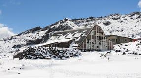 Snow Fun. Chateau Tongariro is place at the foot of Mt Ruapehu. Great fun making snow men Stock Image