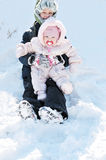 Snow fun Stock Images