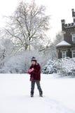 Snow fun stock photo