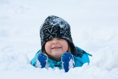 Snow fun Stock Photos