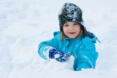 Snow fun Stock Photo