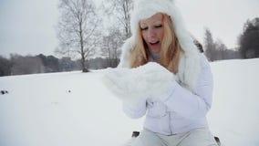 Snow and fun. stock video