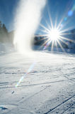 Snow gaiser. Icy winter snow gaiser erupting Royalty Free Stock Images