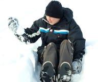 Snow game stock image