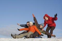 Snow games Royalty Free Stock Photo