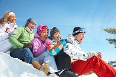 Snow games Royalty Free Stock Photo