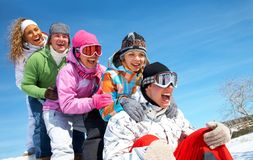 Snow games Stock Photo