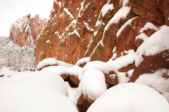 Snow at The Garden of the Gods Royalty Free Stock Photo
