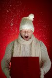 Snow gift Royalty Free Stock Photography