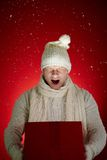 Snow gift Royalty Free Stock Image
