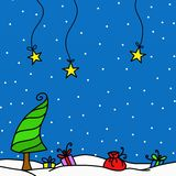 Snow and gifts Royalty Free Stock Image