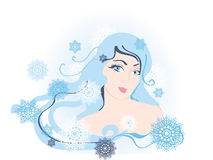 Snow girl Royalty Free Stock Photo