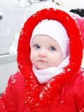 The snow girl Stock Photos