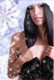 Snow girl Stock Image