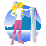 Snow girl illustration Stock Image