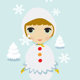 Snow Girl Stock Photography