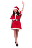 Snow girl santa in christmas concept Stock Image