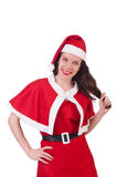 Snow girl santa in christmas concept isolated Stock Image