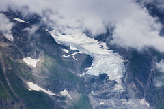 Snow and glacier in alpine mountains. Austria. View from Grossglockner High Alpine Road Stock Photos