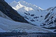 Snow and Glacier covered Mountains in Alaska Stock Image