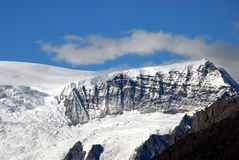 Alaska- Close Up of Snow Covered Mountains in Wrangell National stock images