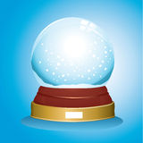 Snow glass globe Royalty Free Stock Photos