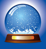 Snow globe. Vector snow globe - customize by inserting your own object Stock Images