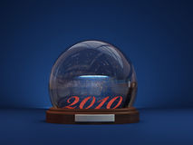 Snow Globe. With 2010 image in it Stock Image
