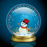 Snow Globe. Illustration of the Christmas season Stock Photo