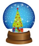 Snow globe. With tree and gifts over white background. vector Royalty Free Stock Photography