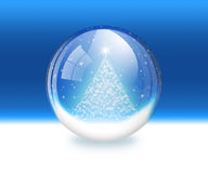 Snow globe. A raster illustration of a snow globe Royalty Free Stock Photos