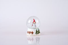 Snow globe. A small snow globe on white background Royalty Free Stock Image