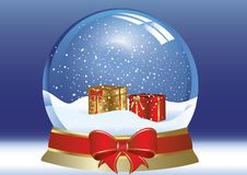 Snow globe. With in blue color,background vector Stock Photography