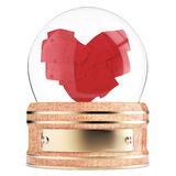 Snow globe with abstract heart inside Royalty Free Stock Image