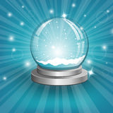 Snow globe on background. Vector Royalty Free Stock Photography