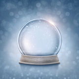 Snow globe. On a blue background stock photo