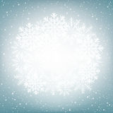 Snow globe blue background Stock Image