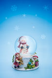 Snow globe christmas holiday background Royalty Free Stock Images
