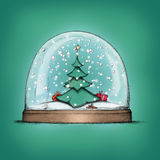 Snow globe with christmas tree Stock Photography
