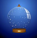 Snow Globe - Christmas Vector Illustration Royalty Free Stock Images