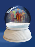 Snow globe with clipping path Royalty Free Stock Images