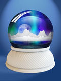 Snow globe with clipping path Royalty Free Stock Photography