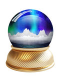 Snow globe with clipping path Stock Photos