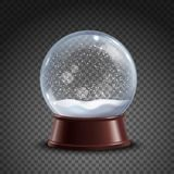 Snow Globe Composition. Realistic colored snow globe composition on transparent background with shadows and lights vector illustration Stock Photo