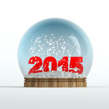 2015 snow globe. 3d rendered illustration Royalty Free Stock Photo